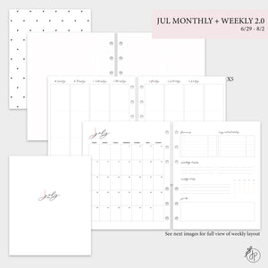 July Monthly + Weekly 2.0 - A5 Wide Rings
