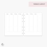 June Monthly + Weekly - A5 Wide Rings
