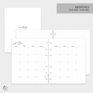 Monthly + Grid 20/21 - A5 Wide Rings