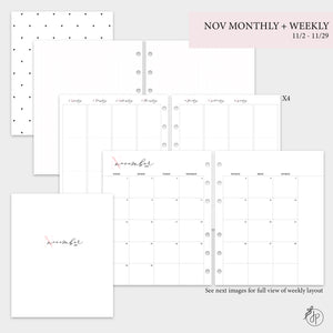 November Monthly + Weekly - A5 Wide Rings