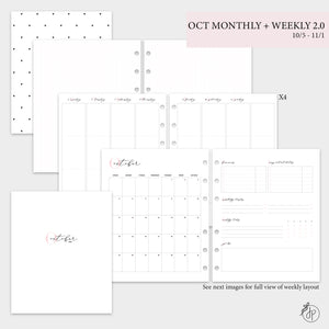 October Monthly + Weekly 2.0 - A5 Wide Rings