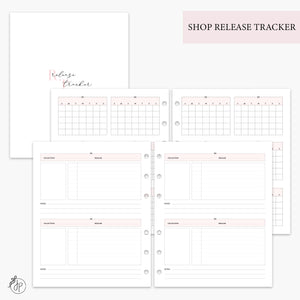 Shop Release Tracker Pink - A5 Wide Rings