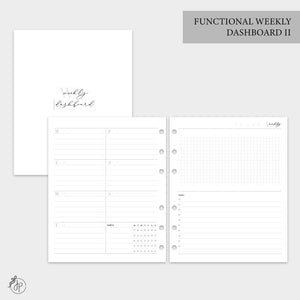 Functional Weekly Dashboard II - A5 Wide Rings