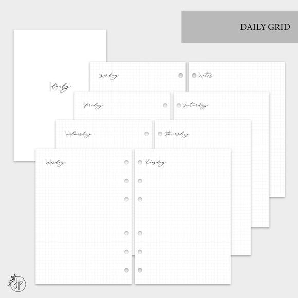 Daily Grid - A5 Rings