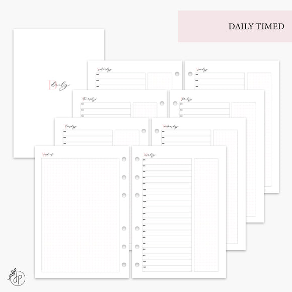 Daily Timed Pink - A5 Rings