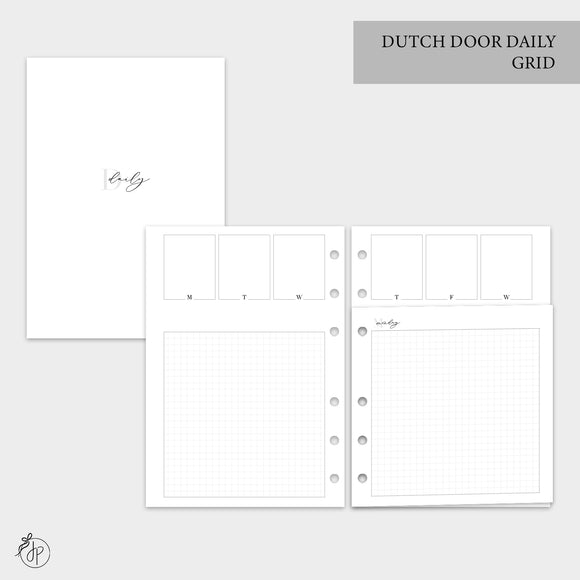 Dutch Door Daily Grid - A5 Rings