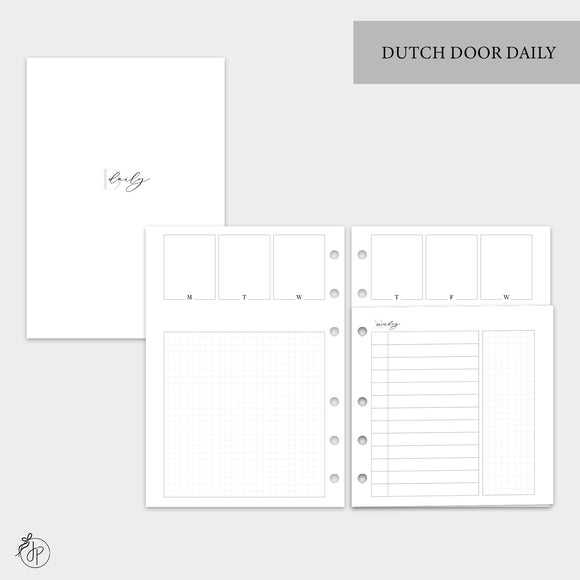 Dutch Door Daily - A5 Rings
