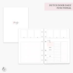Dutch Door Daily Functional Pink - A5 Rings