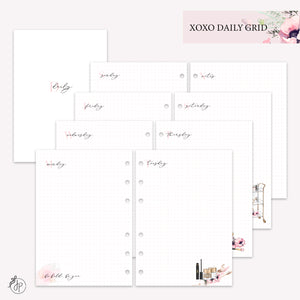 XOXO Daily Grid - A5 Rings