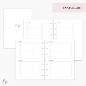 Double Daily Pink - A5 Rings