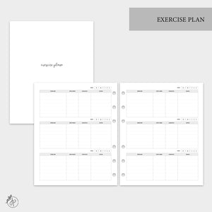 Exercise Plan - A5 Wide Rings