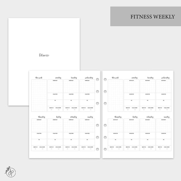 Fitness Weekly - A5 Wide Rings