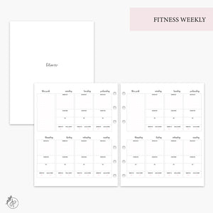 Fitness Weekly Pink - A5 Wide Rings
