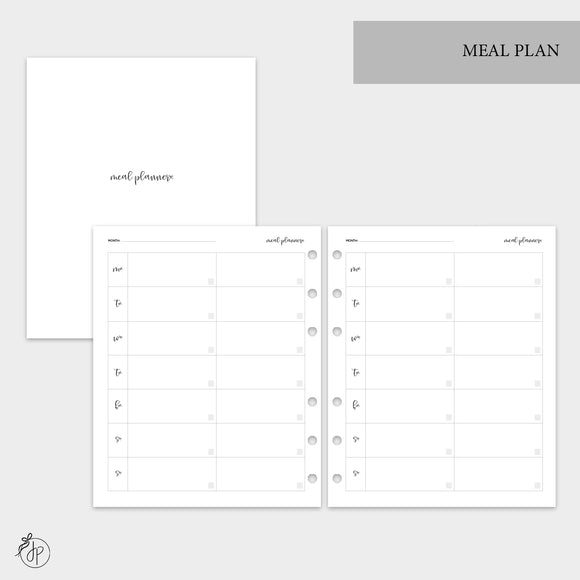 Meal Plan - A5 Wide Rings