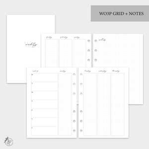 WO3P Grid + Notes Grey - A5 Rings