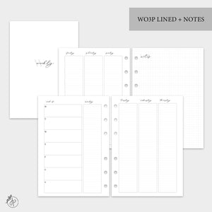WO3P Lined + Notes Grey - A5 Rings