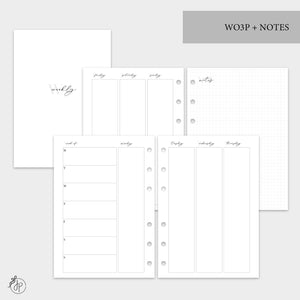 WO3P + Notes Grey - A5 Rings