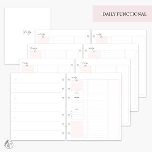 Daily Functional Pink - A5 Wide Rings