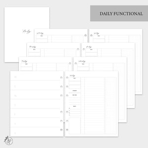 Daily Functional  - A5 Wide Rings
