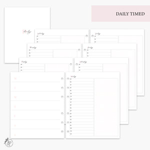 Daily Timed Pink - A5 Wide Rings