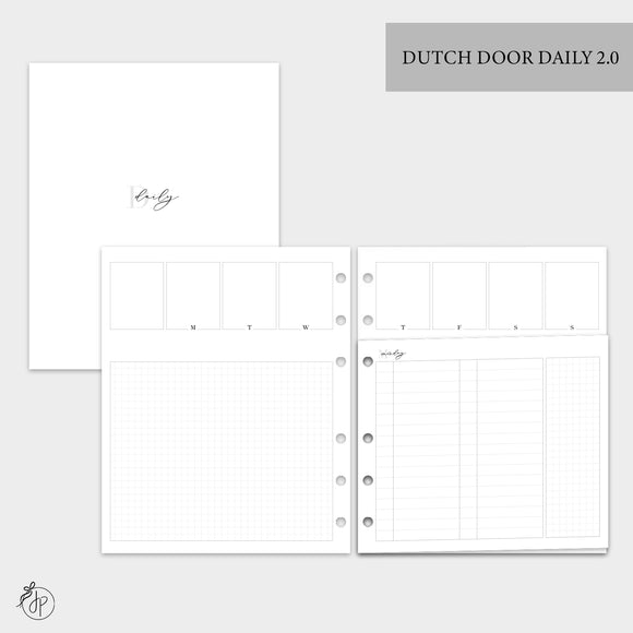 Dutch Door Daily 2.0 - A5 Wide Rings