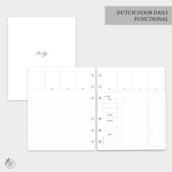 Dutch Door Daily Functional - A5 Wide Rings