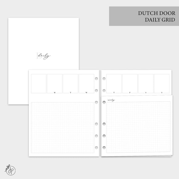 Dutch Door Daily Grid - A5 Wide Rings
