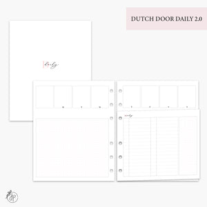 Dutch Door Daily 2.0 Pink - A5 Wide Rings