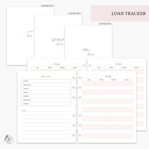Loan Tracker Pink - A5 Wide Rings