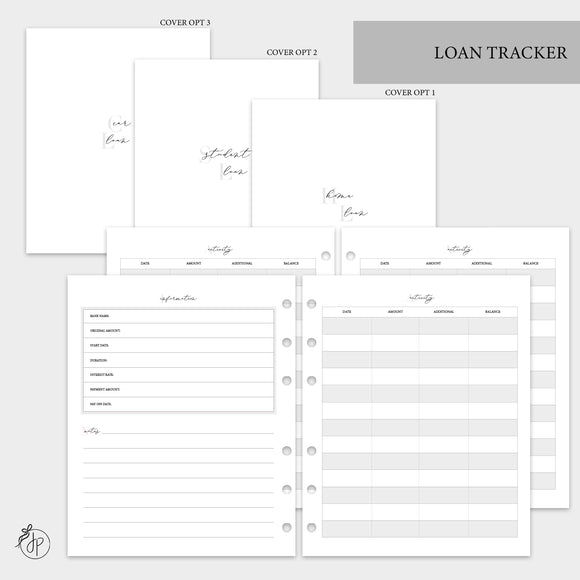 Loan Tracker - A5 Wide Rings