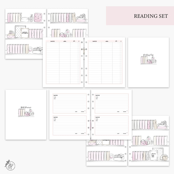 Reading Set Pink - A5 Wide Rings