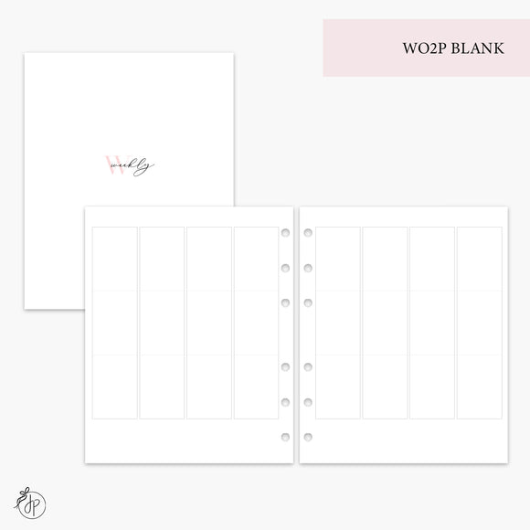 WO2P Blank - A5 Wide Rings