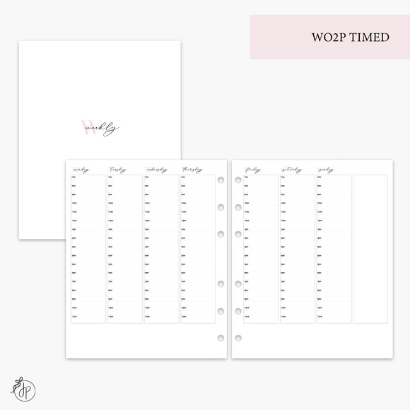 WO2P Timed Pink - A5 Wide Rings