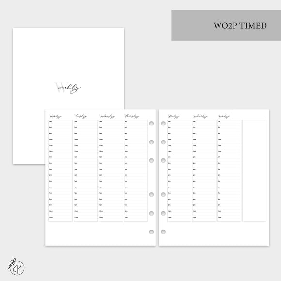 WO2P Timed Grey - A5 Wide Rings
