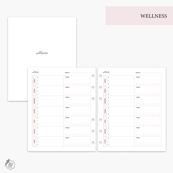 Wellness Pink - A5 Wide Rings