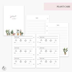 Plant Care Pink - A6 Rings