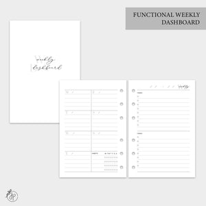Functional Weekly Dashboard - A6 Rings