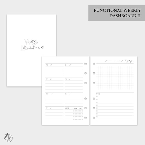 Functional Weekly Dashboard II - A6 Rings