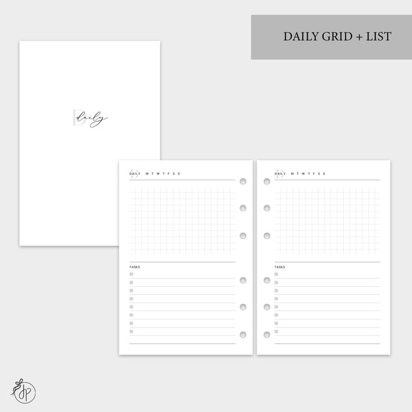 Daily Grid + List - A6 Rings