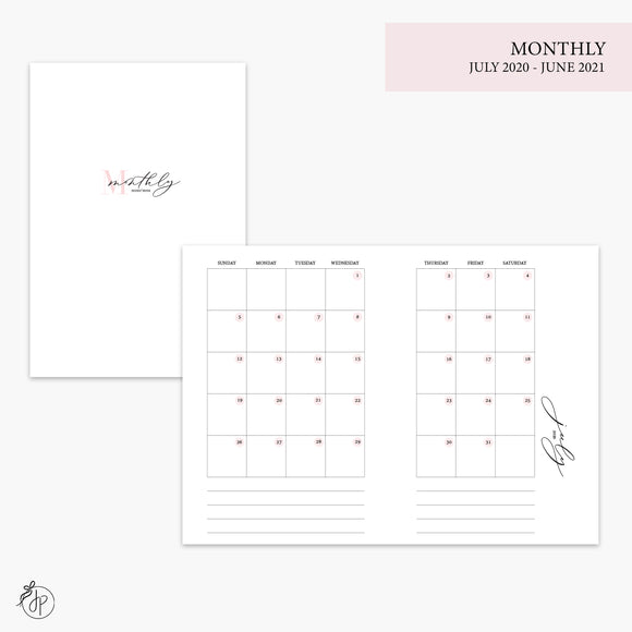 Monthly 20/21 Pink - A6 TN