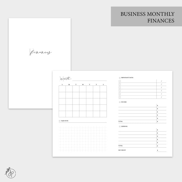 Business Monthly Finances - A6 TN