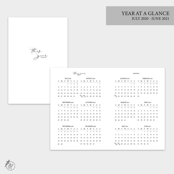 Year at a Glance 20/21 - A6 TN