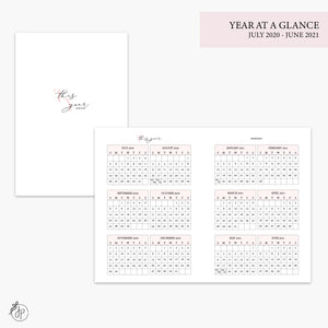 Year at a Glance 20/21 Pink - A6 TN