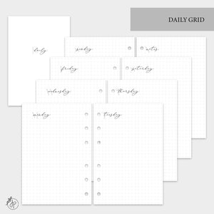 Daily Grid - A6 Rings