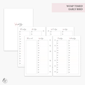 WO4P Timed Early Bird Pink - A6 Rings