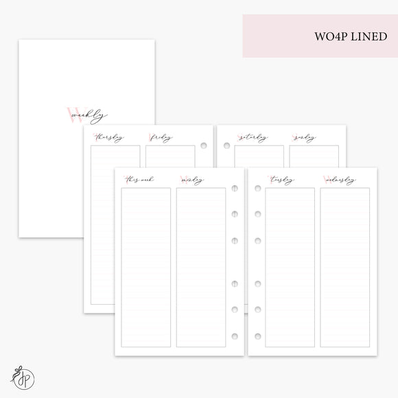 WO4P Lined Pink - A6 Rings