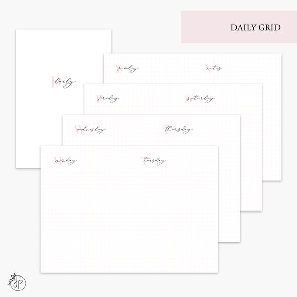 Daily Grid Pink - A6 TN