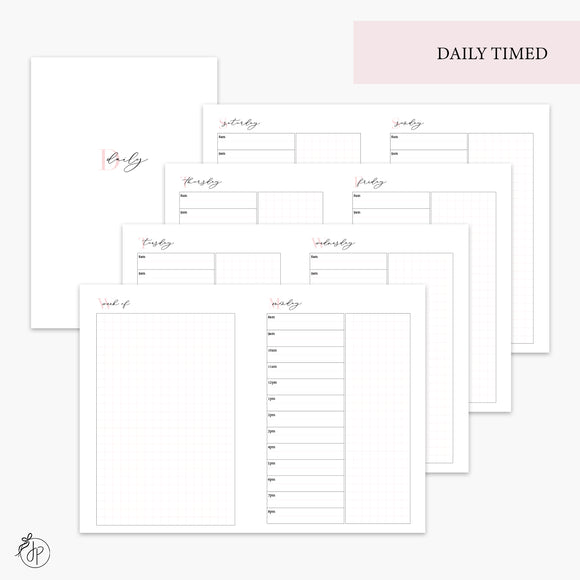 Daily Timed Pink - A6 TN
