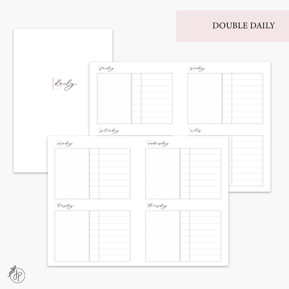 Double Daily Pink - A6 TN