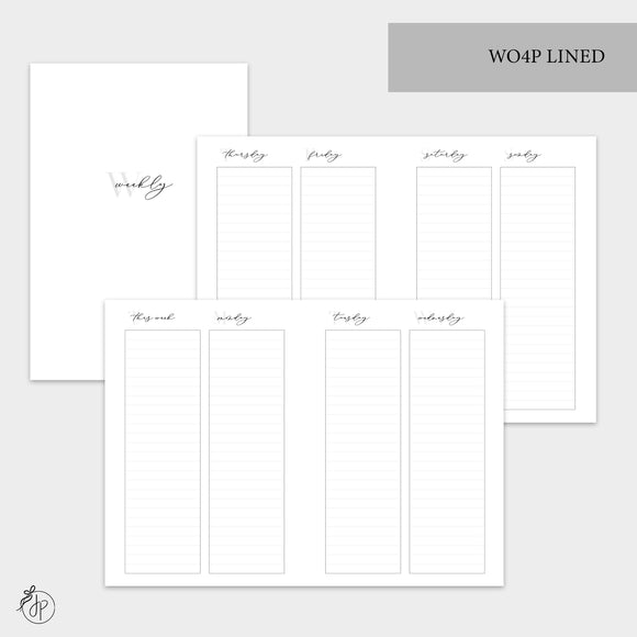 WO4P Lined Grey - A6 TN